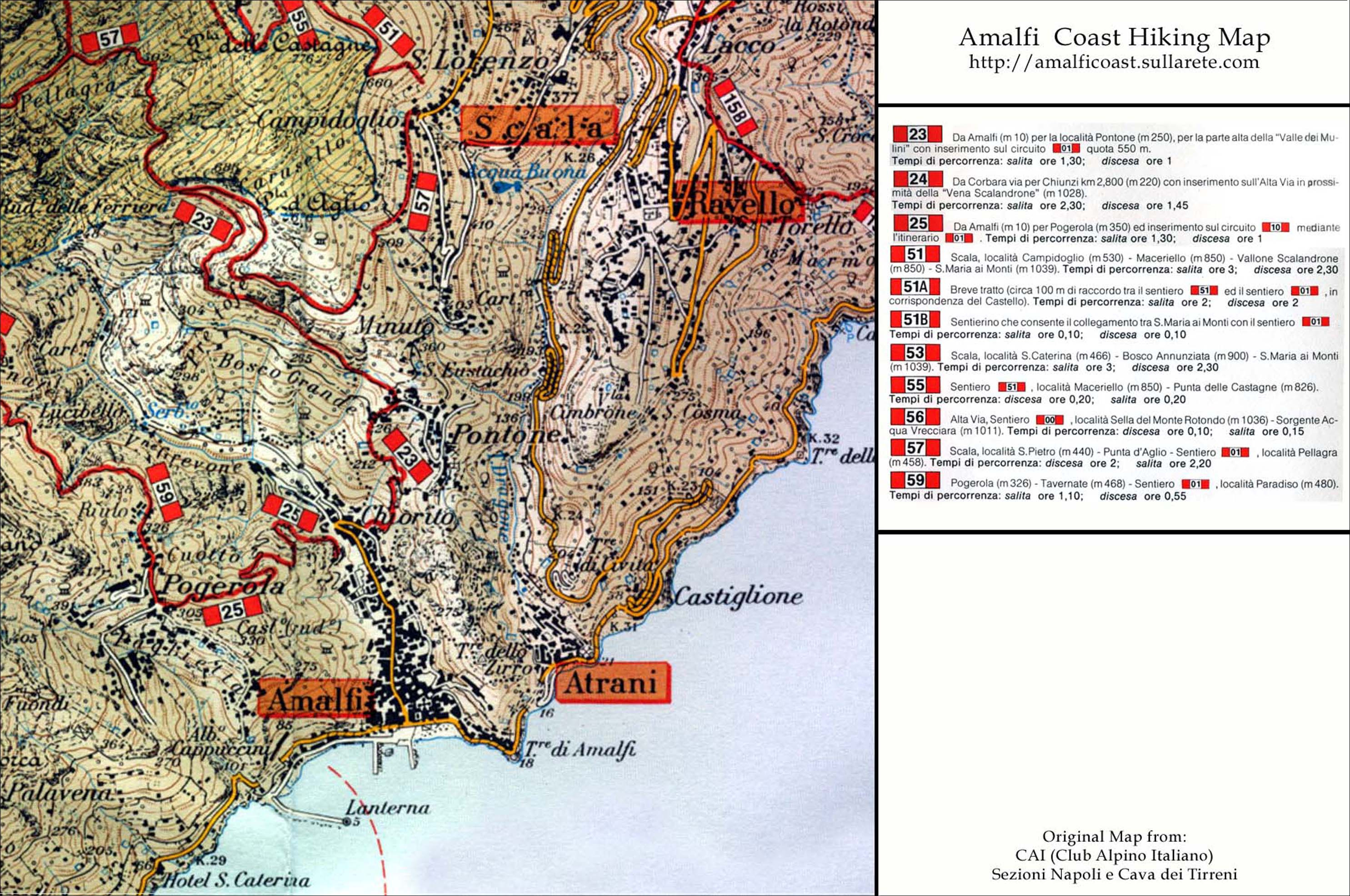 italy map amalfi
